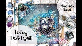 Fantasy Dark Layout (Craft Box + More Than Words challenge)