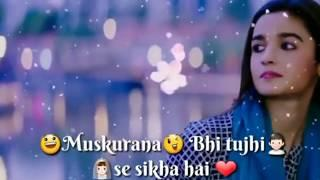 sun mere humsafar :: New : love song || Female version || Whatsapp status video