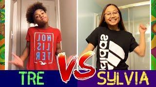 TRE vs SYLVIA Dance Battle ???? Boys VS Girls Instagram Stars Compilation
